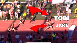 TOBJIZZLE IN MENS 100M HEATS - TWO PEOPLE RUN INTO TOBI'S LANE - CHALLENGER GAMES 2019