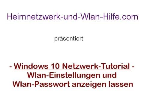 Wlan-Einstellungen Mit Wlan-Passwort Anzeigen Lassen - Wlan-Netzwerk Tutorial