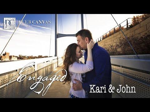Kari + John | Rockford Burpee Museum Engagement Slideshow by Peer Canvas Wedding Photographer