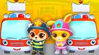 Пожар в городе. Пожар в лесу. Машины пожарные. Мультфильм про пожарных Много пожарных машин Пожарный