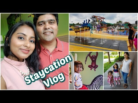 D'Resort & Wild Wild Wet Singapore Vlog | Staycation in Downtown East | Indian Family Vlog