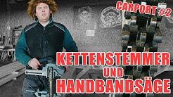 HOLZKUNST SCHOLZ - Wir bauen ein Carport #2 // Kettenstemmer und Handbandsäge