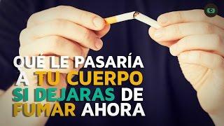 Que le pasa a tu cuerpo si dejas de fumar ahora mismo