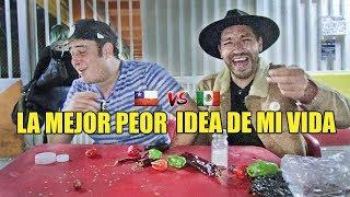 La peor idea de mi vida | Retando a un Mexicano a comer Chiles 🌶 - La Vida Del Desvelado