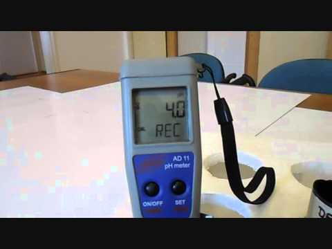 Adwa AD11 two point pH calibration