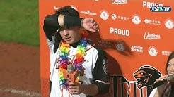 08/21 Lamigo vs 統一 賽後,林安可擊出帶有勝利打點的關鍵二壘安打,拿下生涯首次的MVP