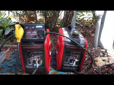 Running a 30 amp Camper With Two Harbor Freight Predator Generators