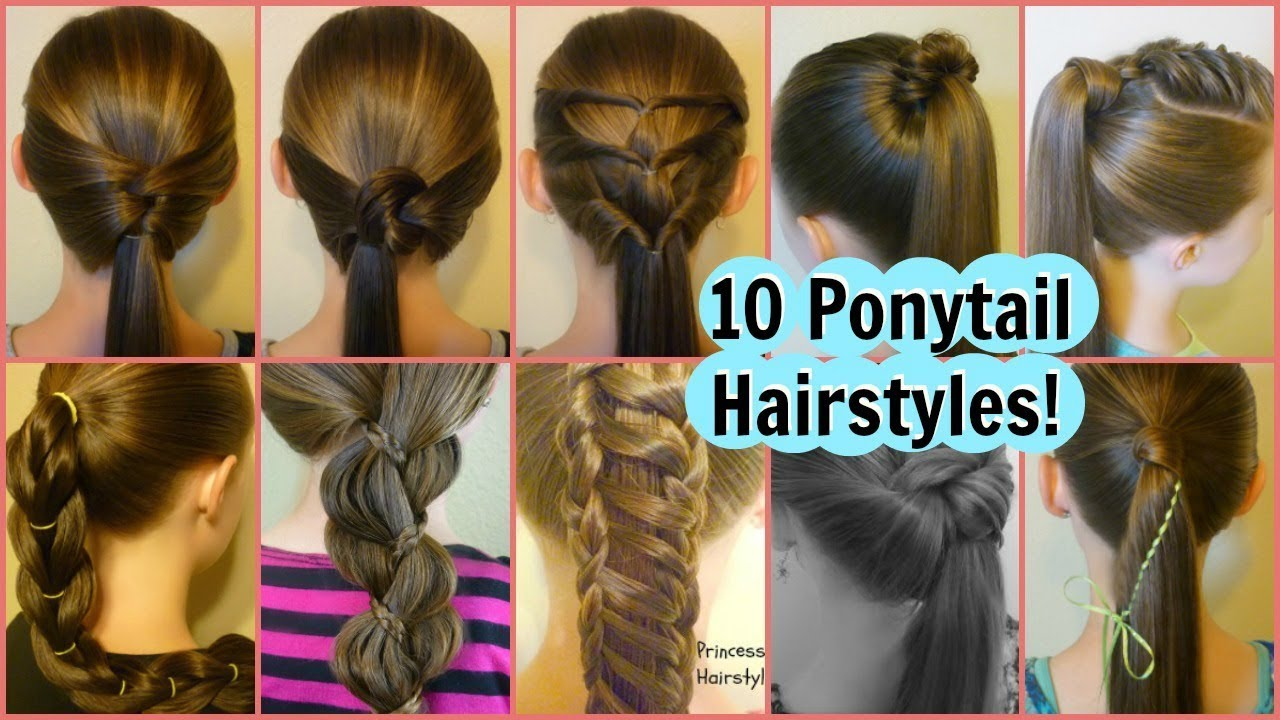10 Easy Ponytail Ideas 2 Weeks Of Ponytail Hairstyles For School