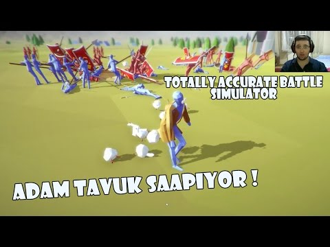 adam tavuk şaapıyor totally accurate battle simulator türkçe