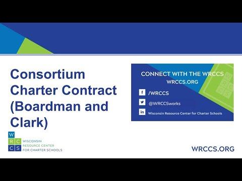 Consortium Charter Contract (Boardman and Clark)