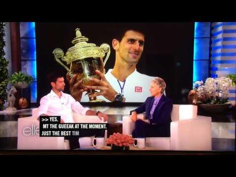 Novak Djokovic visits Ellen Degeneres 3/22/2016 Full Interview