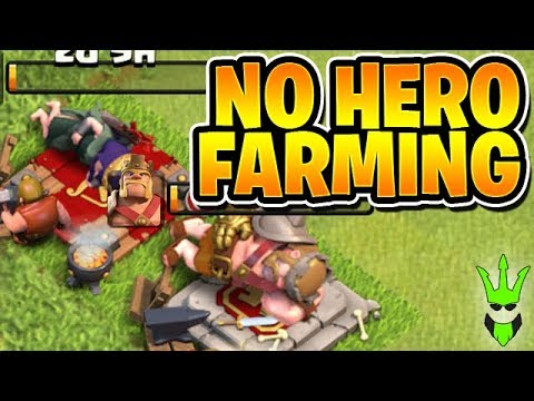 HOW TO FARM WHEN BOTH HEROES ARE UPGRADING! - Let's Play TH9 Ep.10 - Clash of Clans