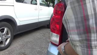 Changing the rear turn signal light bulb on 07 Uplander