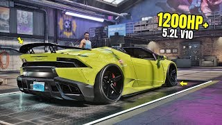 Need for Speed Heat Gameplay - 1200HP+ LAMBORGHINI HURACAN SPYDER Customization | Max Build 400+