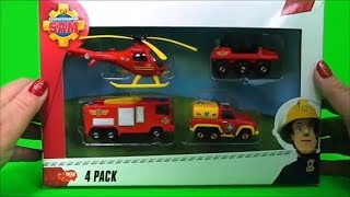 Firefighter Fireman Sam Toys, Fire Engine Jupiter, Venus Truck, Wallaby 1 helicopter Unboxing
