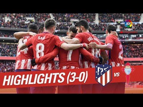 Resumen de Atlético de Madrid vs RC Celta (3-0)