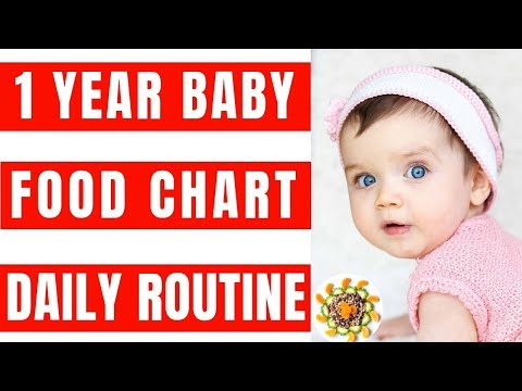 Food Chart And Daily Routine For 1 Year Baby | Complete Diet Plan & Baby Food Recipes For 1 - 2 Yr