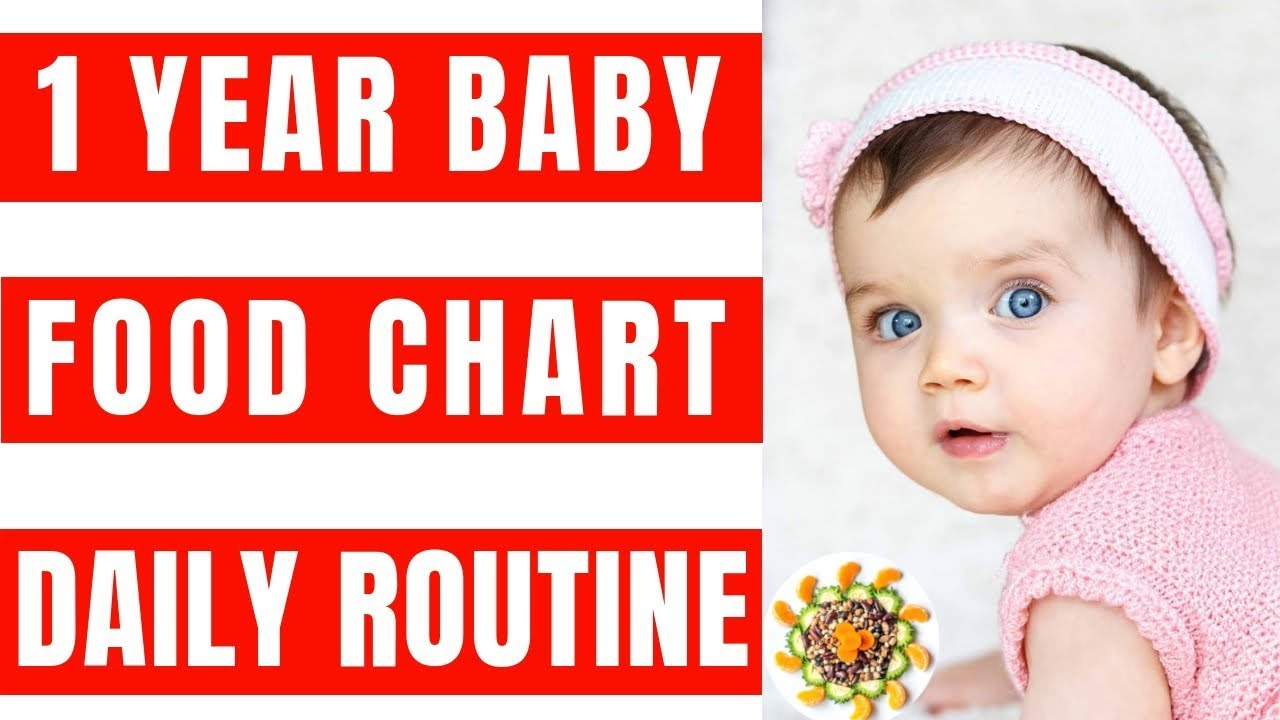 Food Chart And Daily Routine For 1 Year Baby Complete