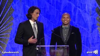 Chris Kluwe and Brendon Ayanbadejo at the #glaadawards
