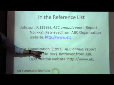 Citing Agency Documents in APA Format