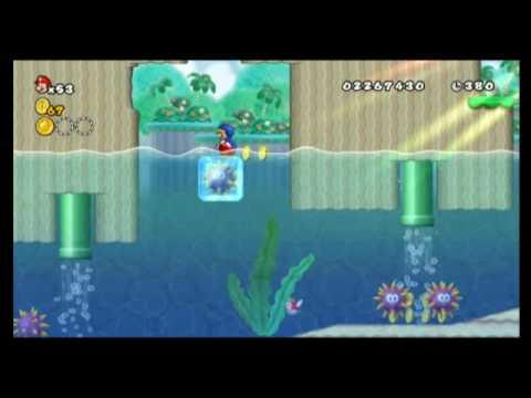 New Super Mario Bros Wii Star Coin Location Guide World 4 1