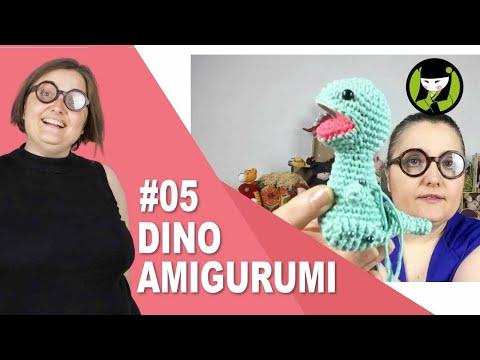 Dinosaurio amigurumi paso paso 5 brazos y cola tejido a crochet