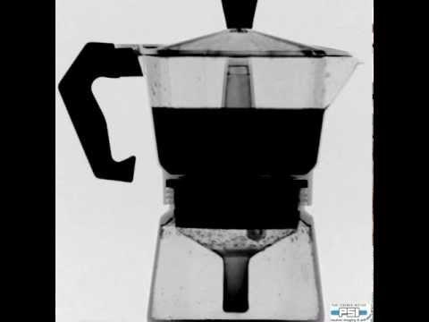 Neutron movie of coffee making