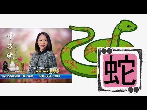 麥翠嫻師傅2019豬年生肖運程 - 「肖蛇運程」