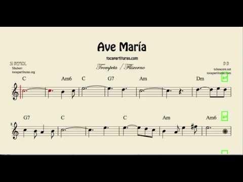 Ave María Partitura de Trompeta y Filscorno