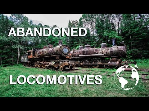 ABANDONED LOCOMOTIVES IN THE WILDERNESS