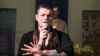 Kyle Gray tells his story at the Tree Of Life