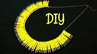 How to Make a Necklace from Safety Pins | DIY Statement Necklace