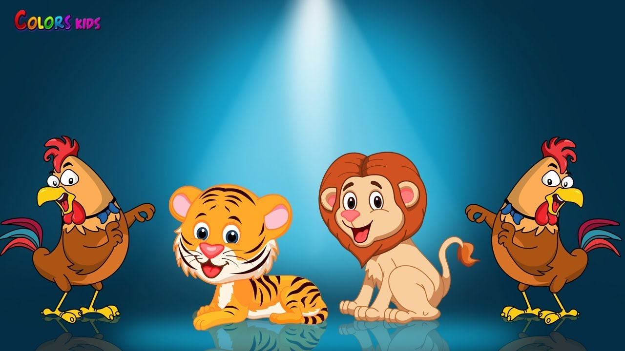 Animals wrong head Color Song for Kids   Learn Animals video