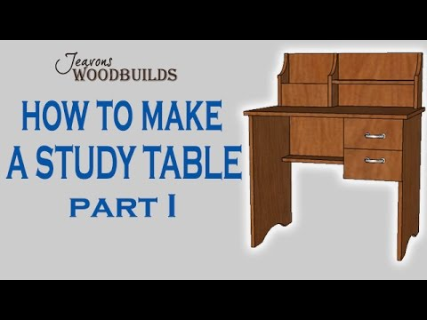 how to draw a study table
