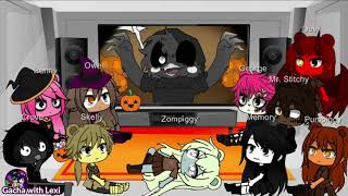 | Gacha Club | Happy Halloween! 🎃 Parts 1 and  2 Compilation 🐷 Piggy characters react to Piggy Memes