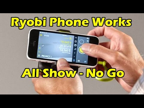 Ryobi phone works smartphone tools laser distance measurer