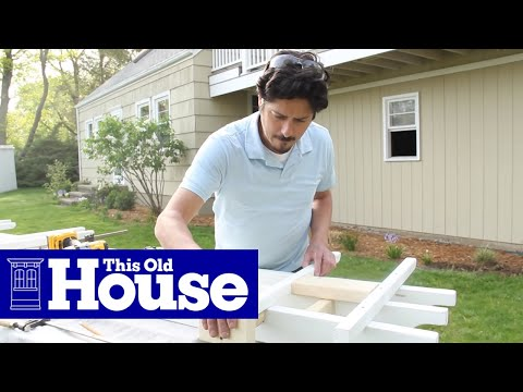 Attirant How To Build A Garage Pergola   This Old House   YouTube