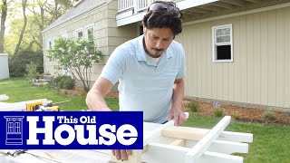 How To Build A Garage Pergola - This Old House