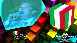 Roberto Sánchez - Insieme: 1992 (Italy) - Euro Singers Fans Contest 2 cover