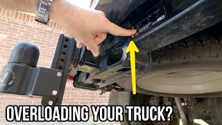 YOU'RE OVERLOADING your truck's hitch receiver!