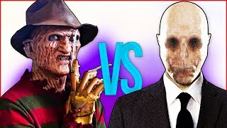 СЛЕНДЕРМЕН VS ФРЕДДИ КРЮГЕР СУПЕР РЭП БИТВА Slenderman game ПРОТИВ Freddy Krueger horror movie