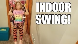 INDOOR SWING! Kids Swing indoors! Gorilla Gym | Time For Toys | Babyteeth4