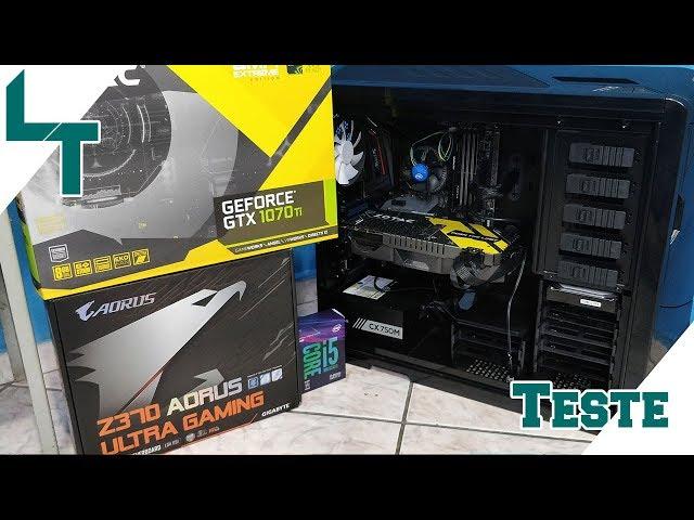 Teste com o i5 8600k + GTX 1070 TI 8GB Zotac AMP - PUBG, GTA 5, Witcher 3 ...