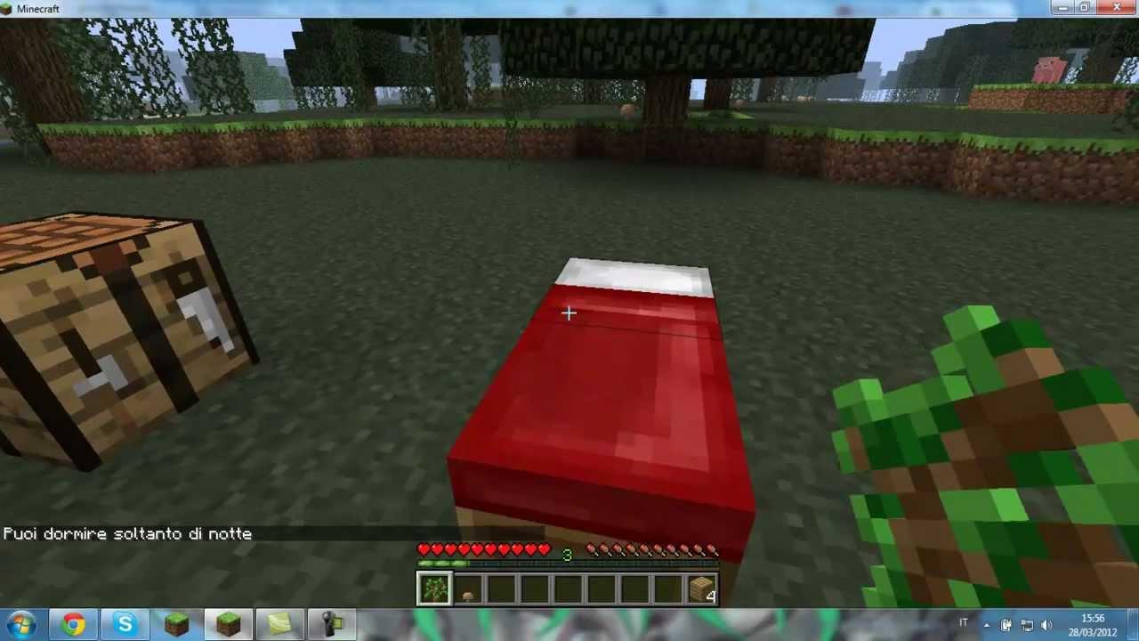 Come creare un letto in Minecraft - YouTube