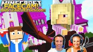 Minecraft FACE CAM!! - LITTLE DONNY & BABY LEAH HAVE A PET DRAGON!!!