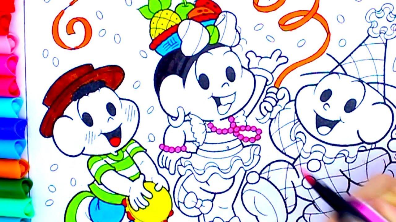 Turma Da Monica Carnaval Fantasias Pintando Cores Youtube