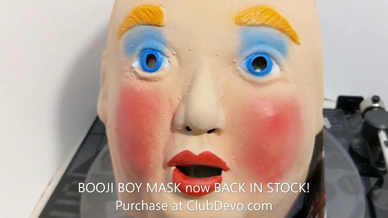 Booji Boy Mask BACK IN STOCK at ClubDevo.com!