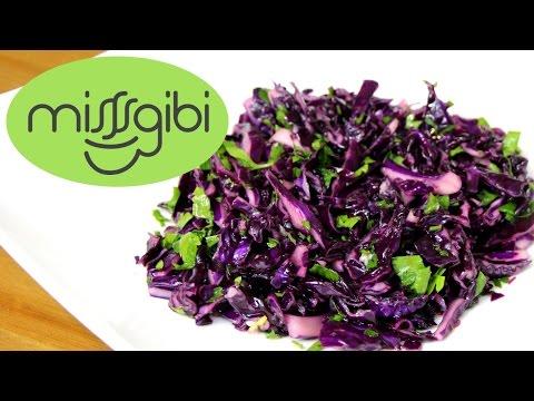 lahana salatası  mor lahana salatası nasıl yapılır?