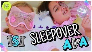 ISI + AVA =  ÜBERNACHTUNGS-PARTY 😍 BFF SLEEPOVER ✨ Kleine Familienwelt