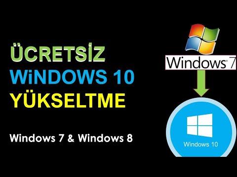 Windows 7'i Veya Windows 8'i  Windows 10'a Yükseltme (ücretsiz) - 2020